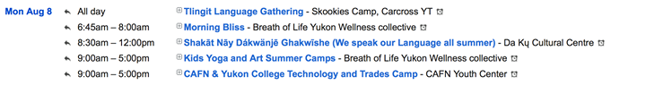 Calendar of Events in the Yukon  http://Yukon.Events  Hashtag Your Experience