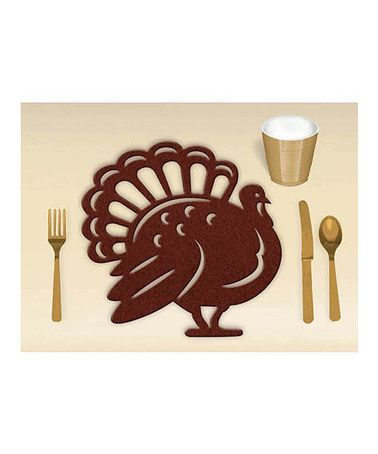 Take A Look At This Turkey Felt Place Mat Set Of Four By Amscan On Zulily Today Thanksgiving Fun Placemats Fond Du Lac