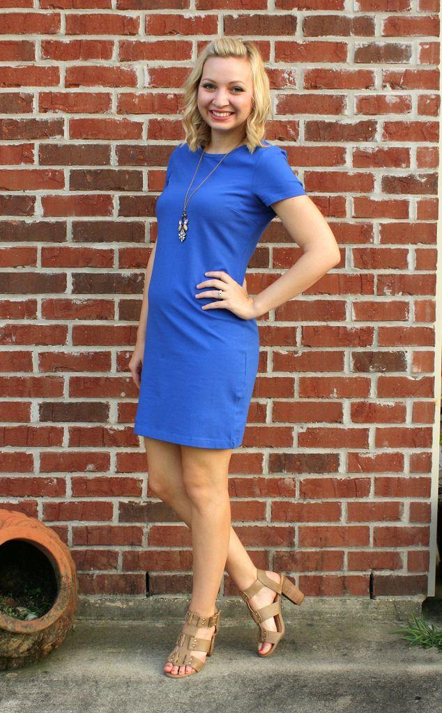 Blaues tshirt kleid