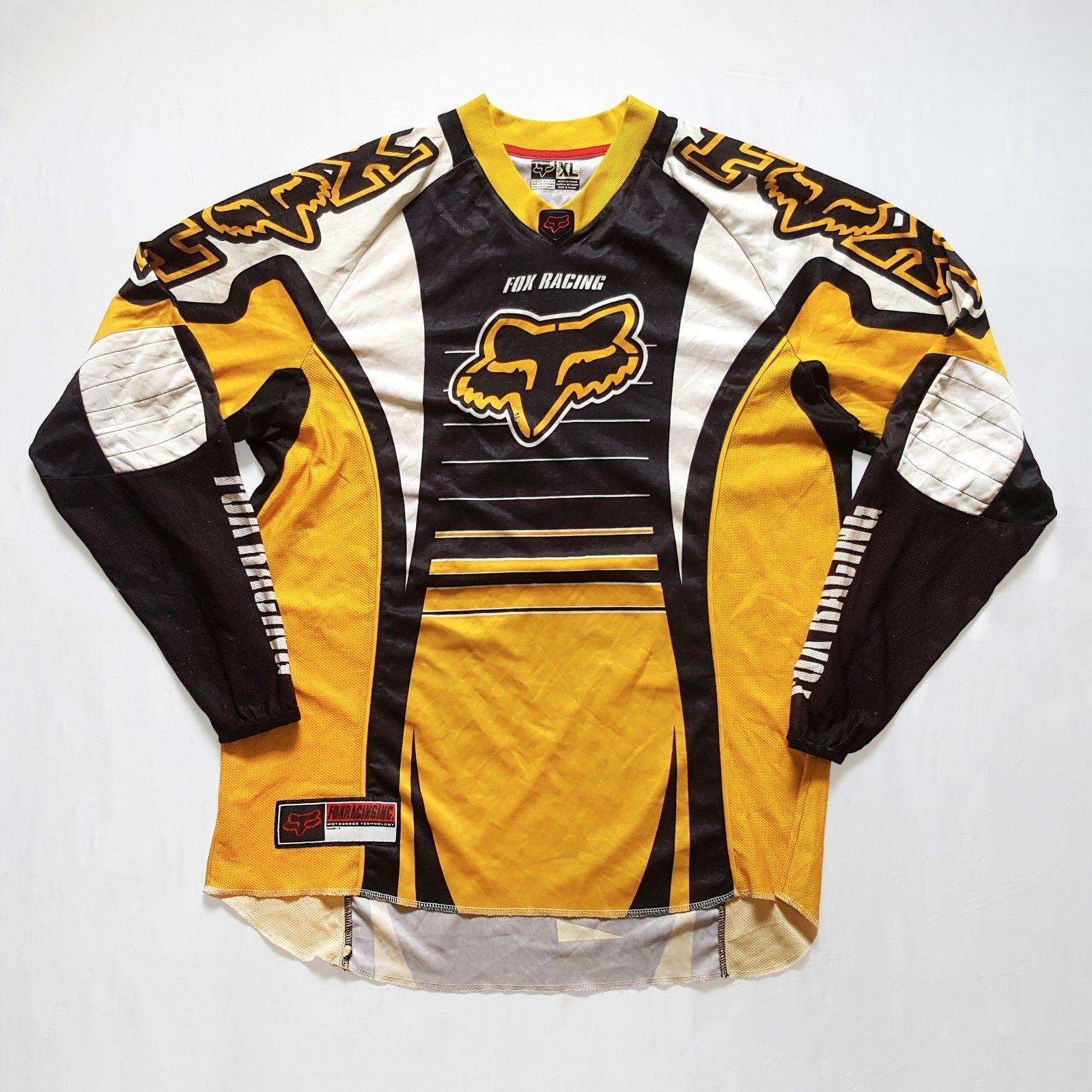 Vtg 90s Motocross Fox Racing Team D2 Long Sleeve Jersey Dirt Bike MX ... c251e0debd25