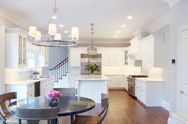 Design dilemma coordinating kitchen island and breakfast nook lights our fifth house