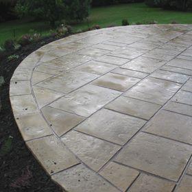 Flagged | Circle patio, Hardscape patio, Circular garden ...