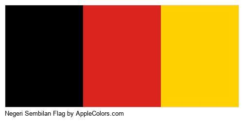 Negeri Sembilan Malaysia State Flags Flag World #000000 #dc241f #ffd100