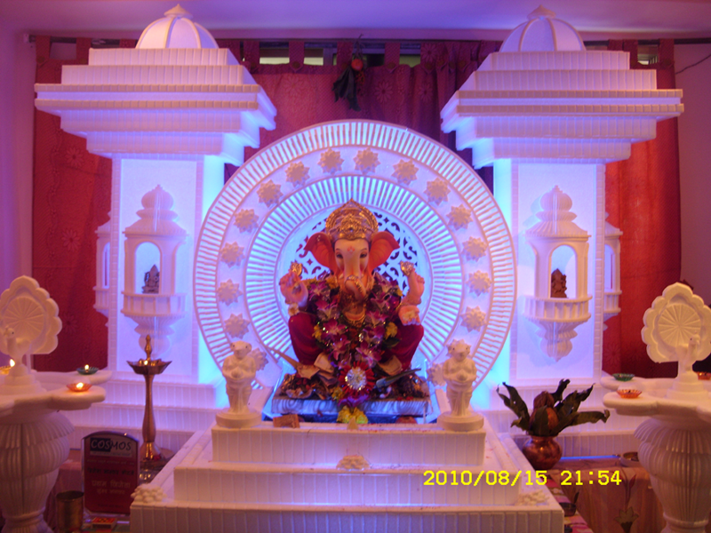 Mandir Decoration Decoration For Ganpati Ganapati Decoration