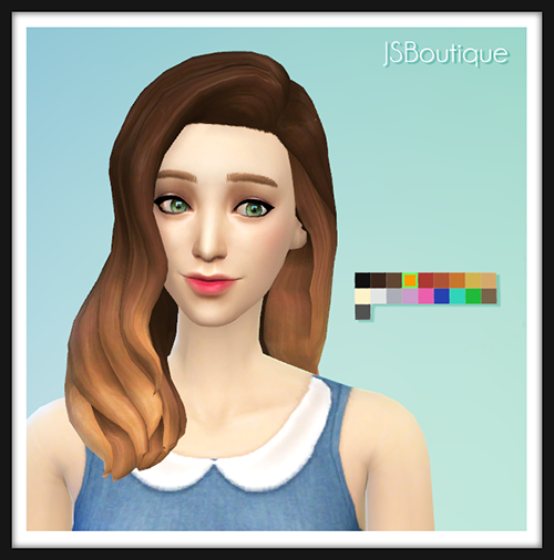 10 Ombre Hair Recolors Sim Spirations Pinterest Sims Sims 4
