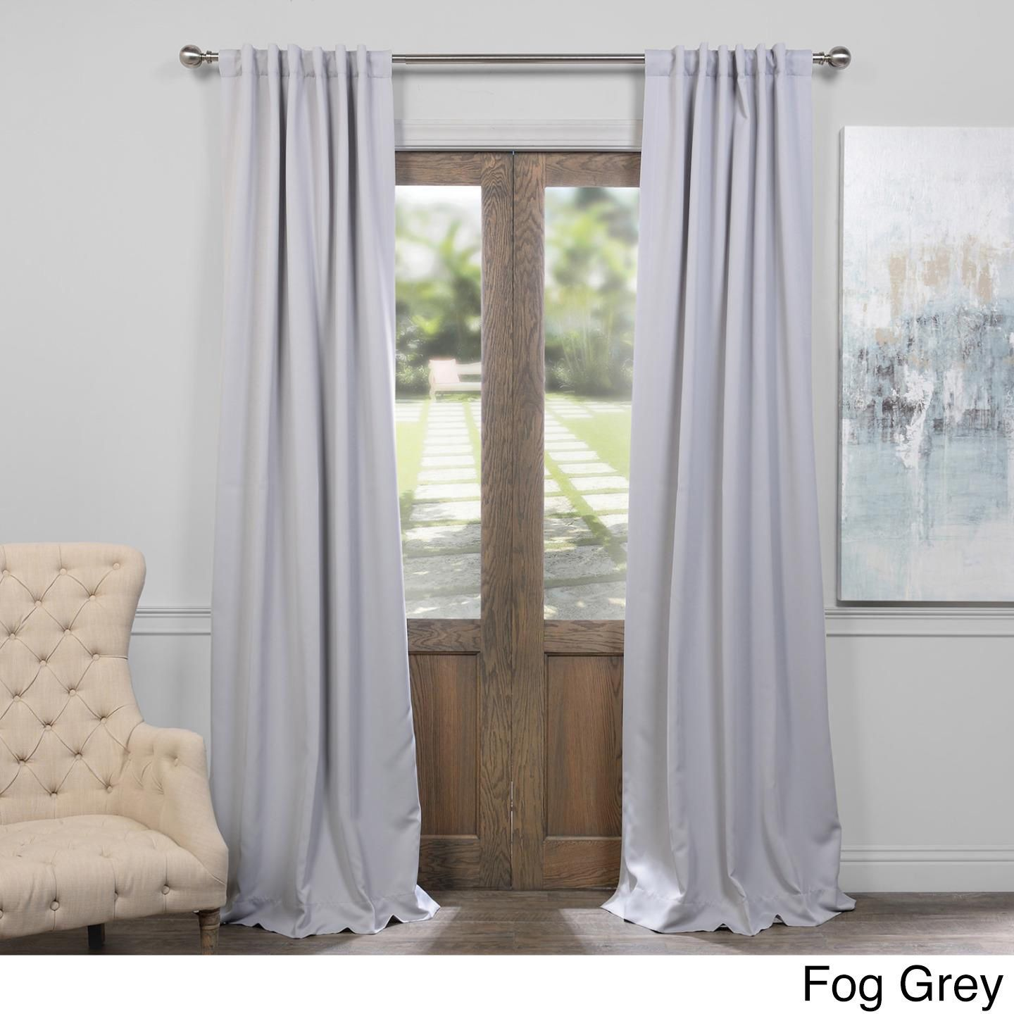 Exclusive Fabrics Thermal Insulated Solid Blackout 96 Inch Curtain