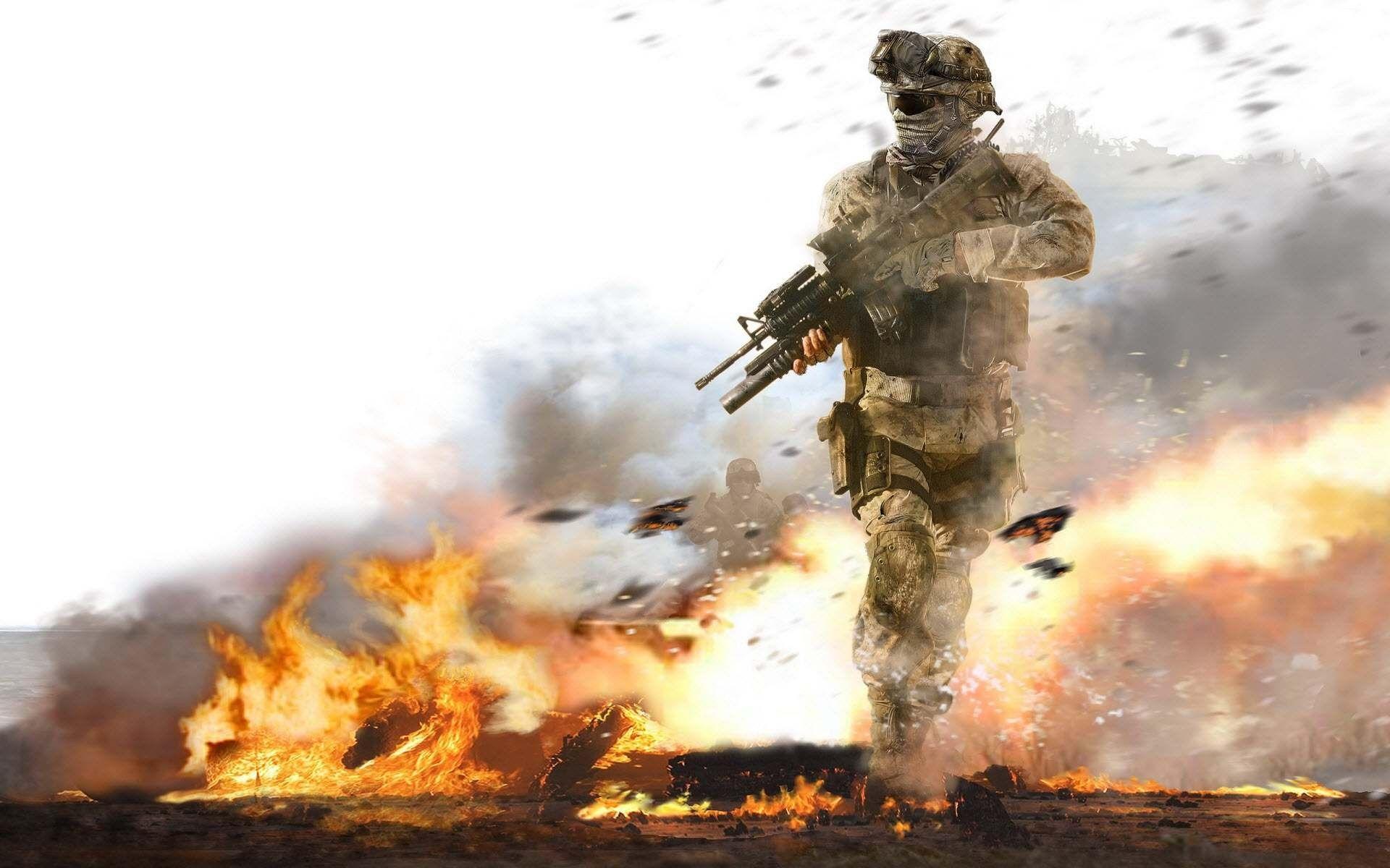 Soldier Call Of Duty Modern Warfare 2 War Video Games Army