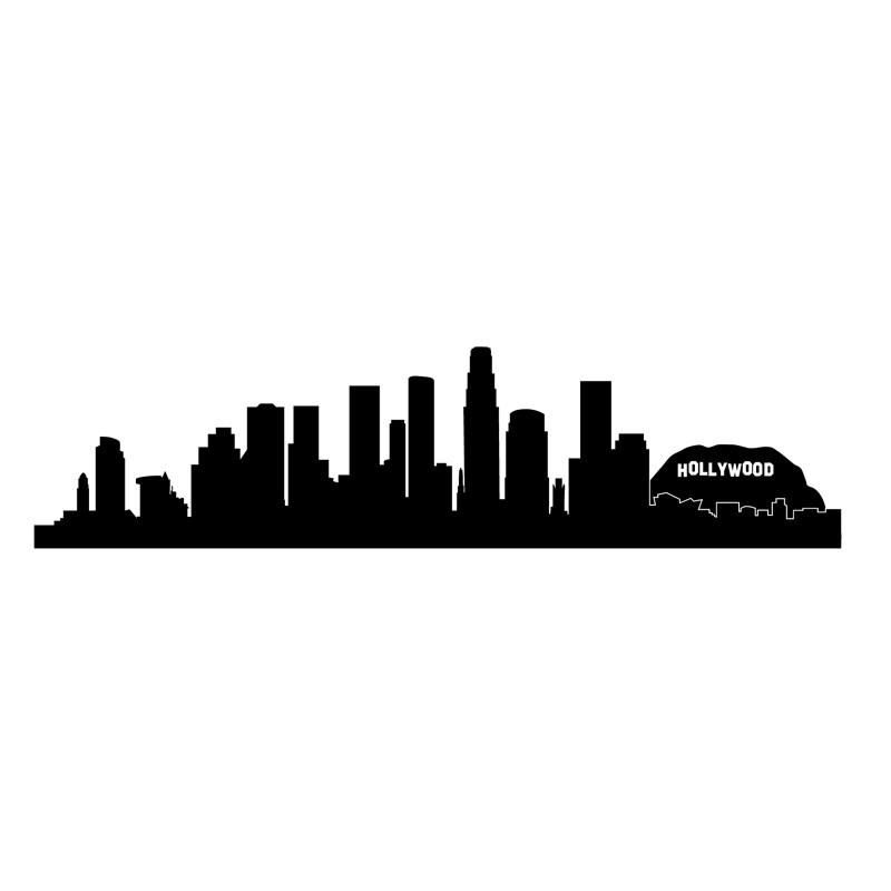 Los Angeles Hollywood Skyline Wall Decal Shop At Dana Decals Skyline Silhouette Silhouette Wall Art Los Angeles Skyline