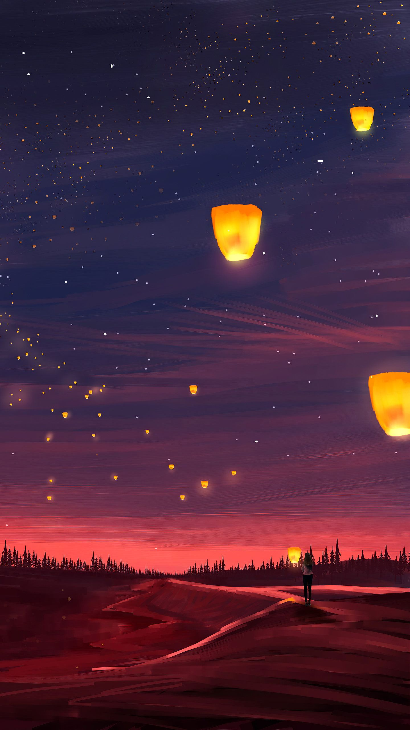 The Quiet Is Nice 4k Hd Artist Wallpapers Photos And Pictures Id 44862 Scenery Wallpaper Anime Scenery Wallpaper Sky Lanterns