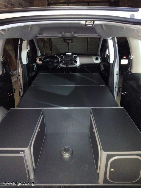 mueble kit berlingo 2 partner peugeot partner camper pinterest t4 camper camper van. Black Bedroom Furniture Sets. Home Design Ideas
