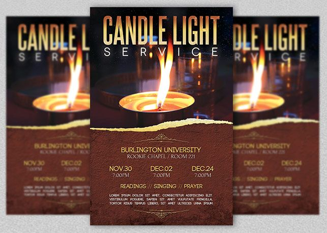 Candle Light Service - $600 Candle Light Service Flyer Template - event flyer template word