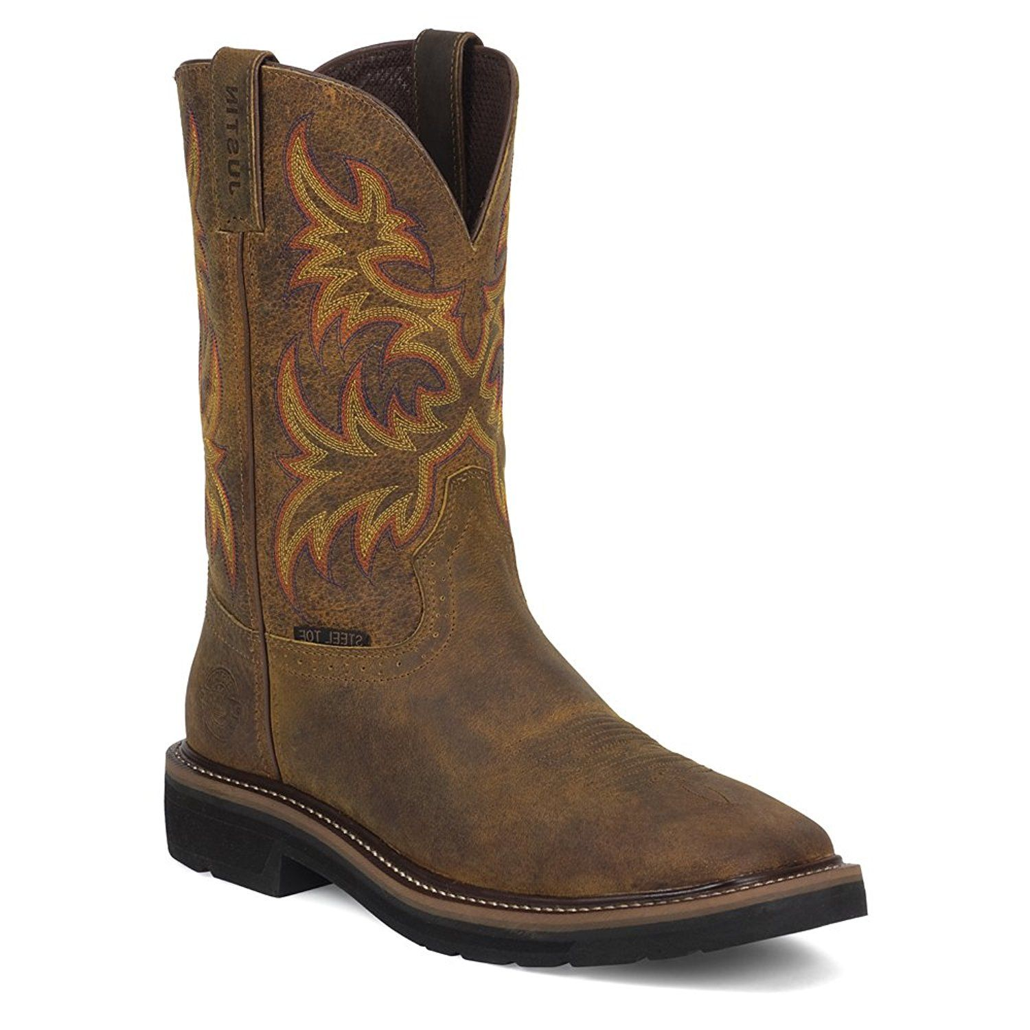 Justin Work Boots Women's Stampede Rugged Steel Toe Western Tan WKL4682 *** More info could be found at the image url.