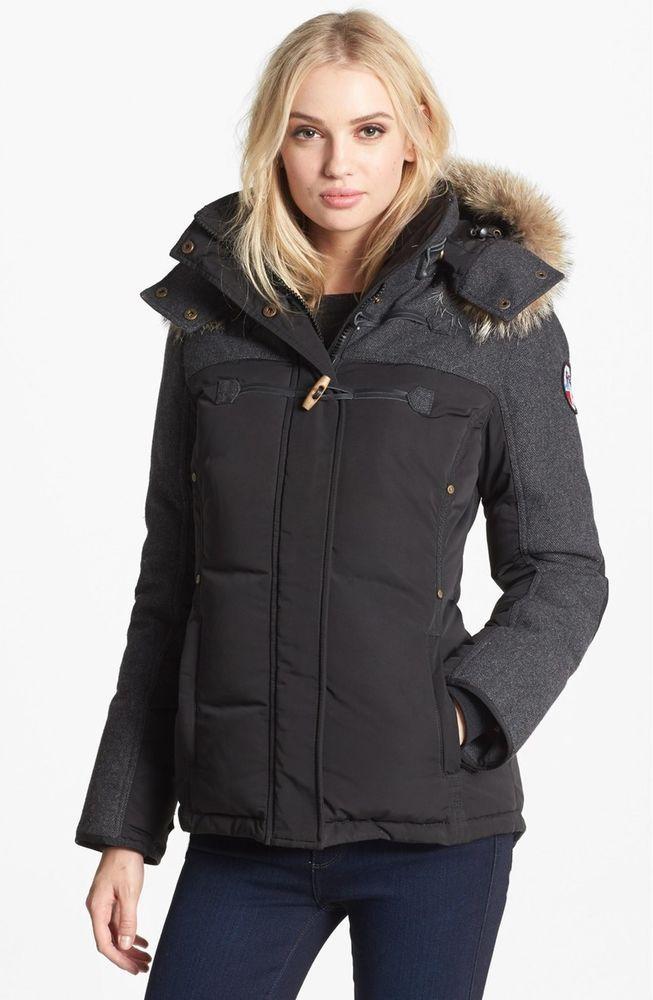 7f75491d $644 NWT PAJAR Tory Canada Down Parka Coat Coyote Fur Trim Hood Jacket  Winter #PajarCanada #Parka