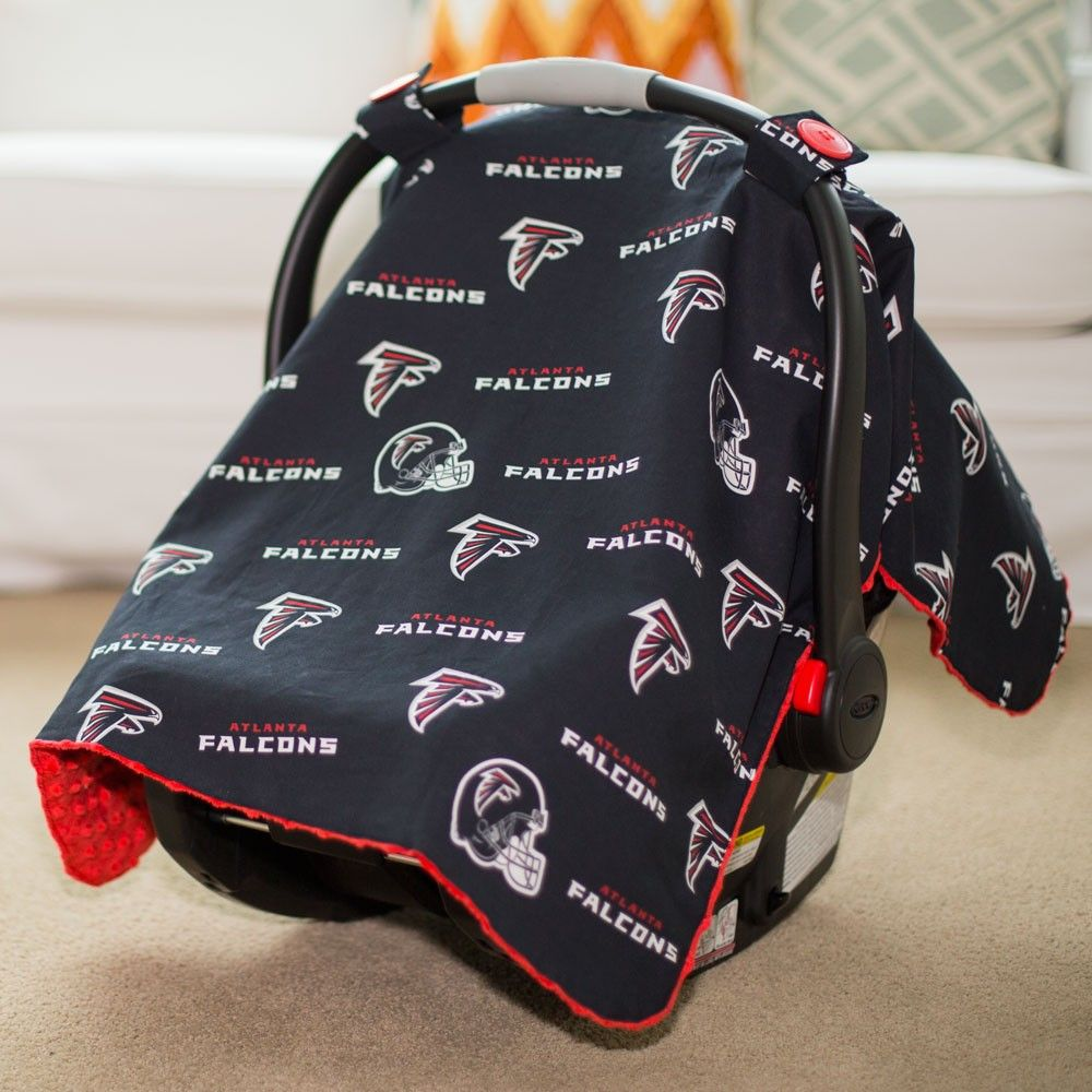 Atlanta Falcons Baby Gear Infant Carseat Canopy Cover