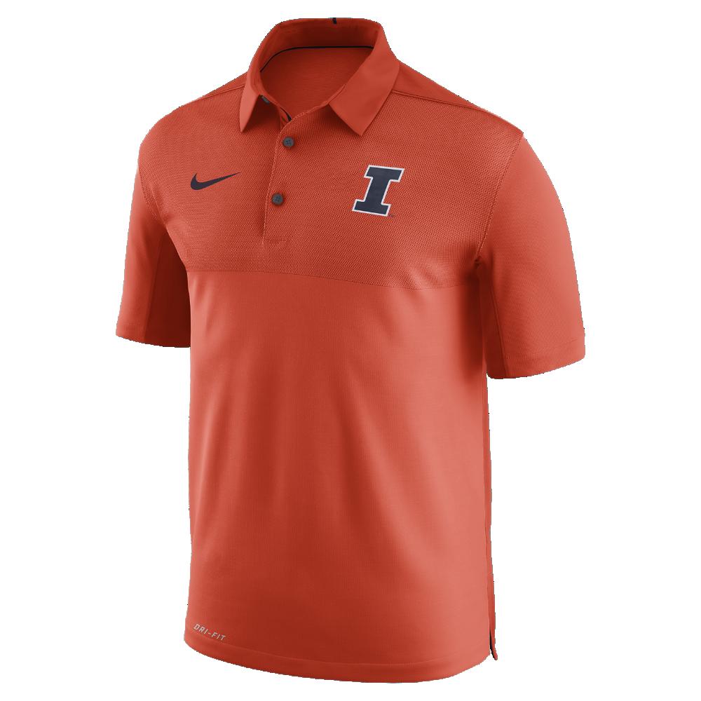 3c8a9b0933abf Nike College Dry Elite (Illinois) Men's Polo Shirt Size Medium (Orange)