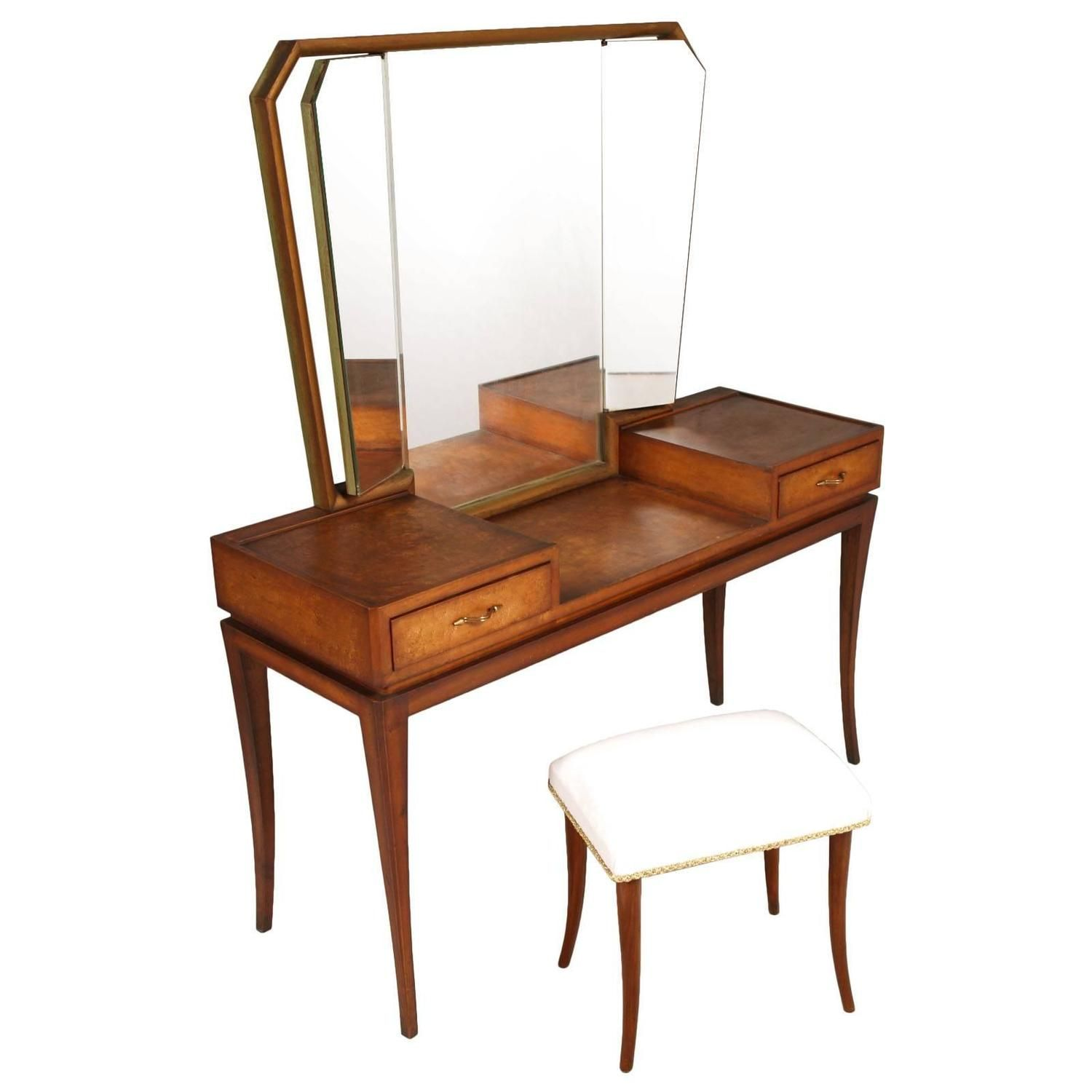 Early 20th century modernist vanity or dressing table meroni early 20th century modernist vanity or dressing table meroni fossati lissone geotapseo Gallery