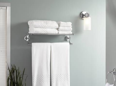 Iso chrome towel shelf - DN0794CH - Moen   Bathroom   Pinterest ...