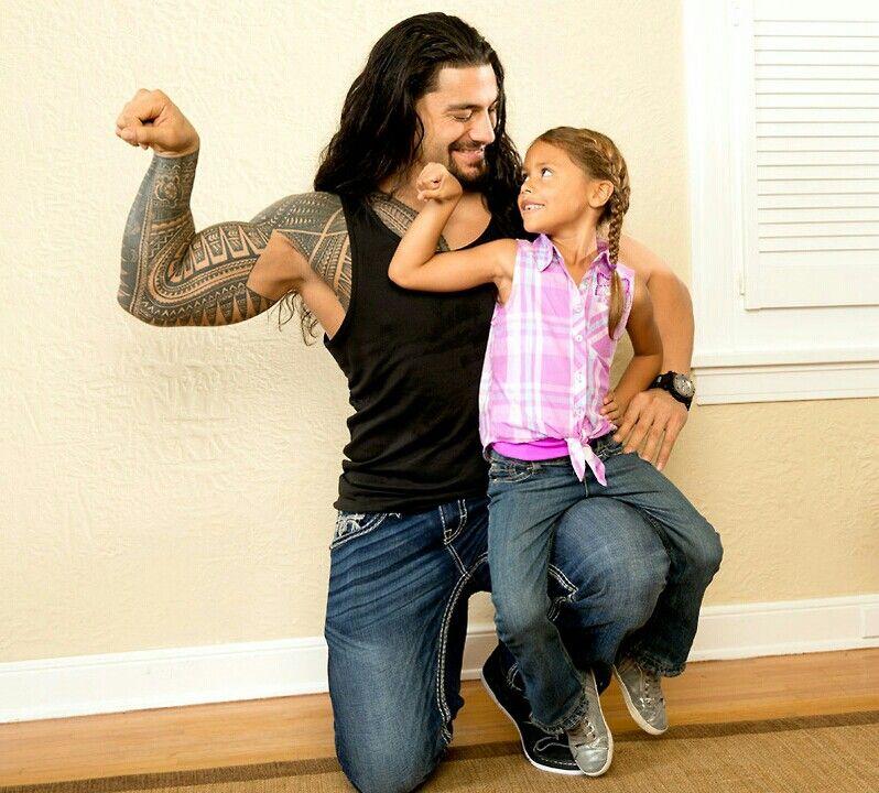 Joe Anoa'i and his daughter Joelle Anoa'i