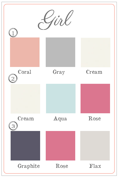 Big Announcement Girl Nursery Colors Coral Color