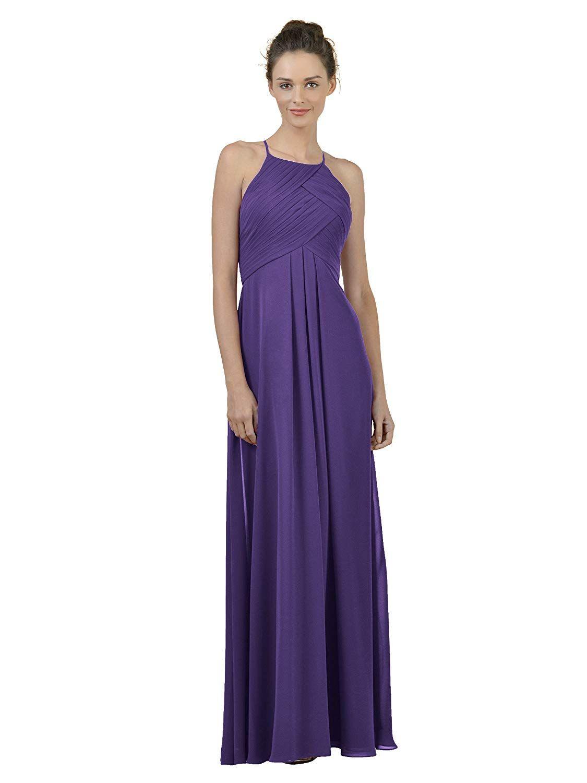834310f075e Alicepub Long Chiffon Bridesmaid Dress Maxi Evening Gown A Line Plus Party  Dress at Amazon Women s Clothing store
