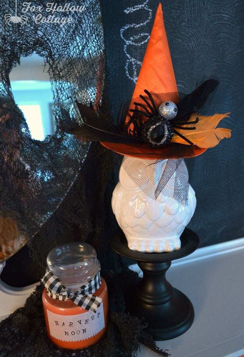 Classic Black and Orange Halloween Mantel Easy halloween - Witch Decorations For Halloween