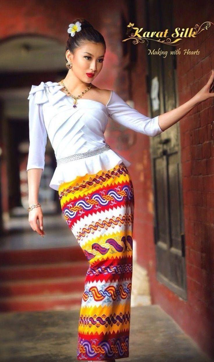 Myanmar Traditional Dress Photo