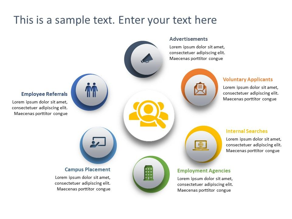 This Template Shows The Different Modes Of Recruitment For A Human Resource Manager Recruitment Powerpoint Templates Powerpoint Slide Templates Powerpoint