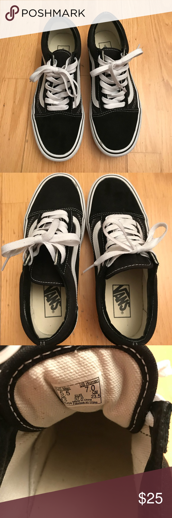 dd91836a1205 Vans old skool platform skate shoes (sneakers) Rubber sole Lace-up style  Vulcanized