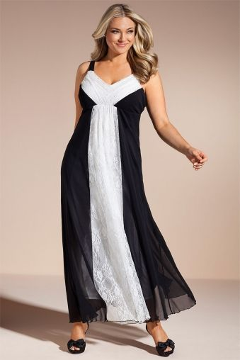 Plus Size Womens Fashion Sara Lace Panel Maxi Dress By Ezibuy