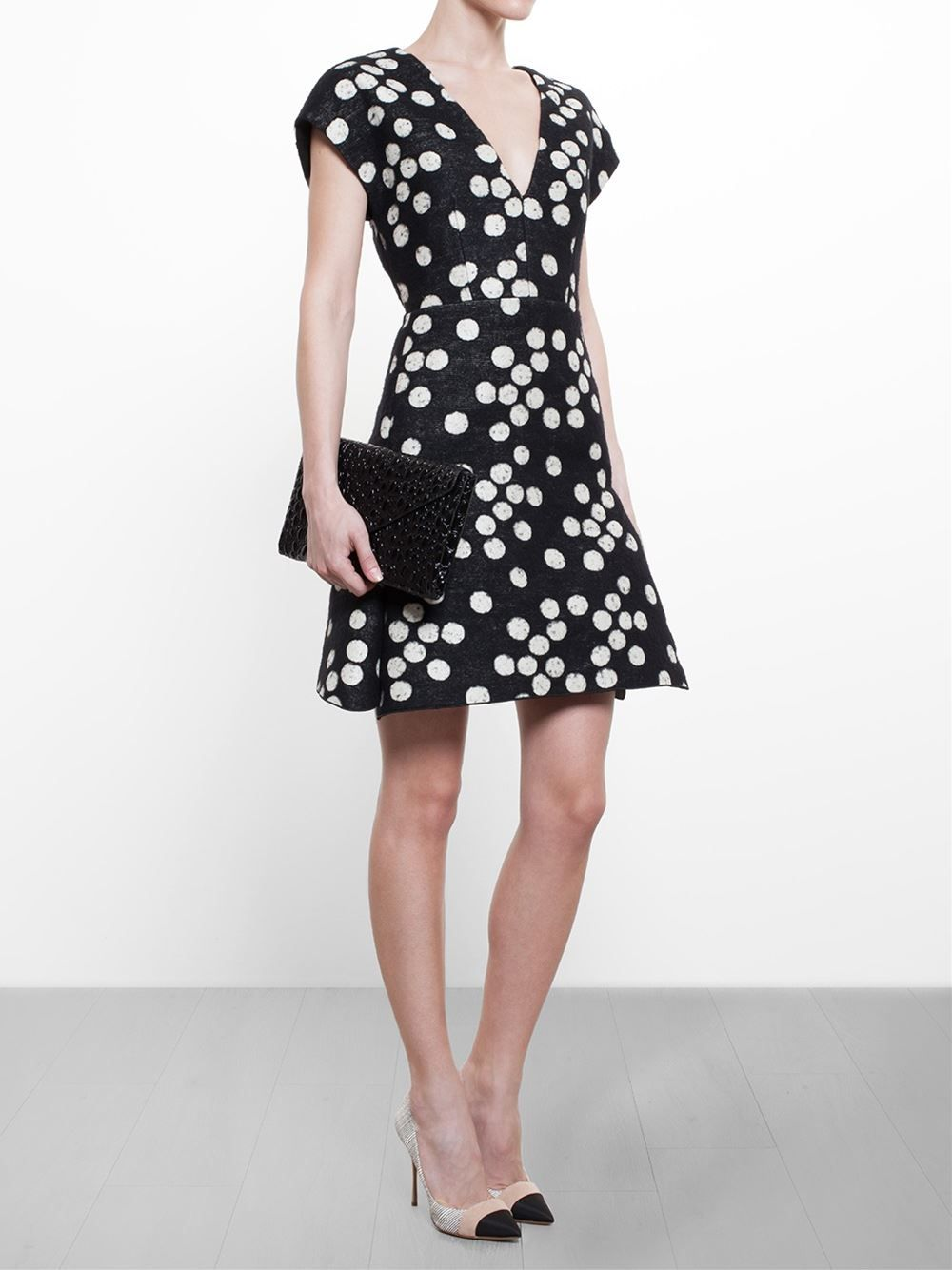d80e883c67d Giambattista Valli Polka Dot Dress - Browns - Farfetch.com ...
