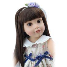 2016 año nuevo 18 pulgadas recién nacido realista Baby Dolls 45 CM vinilo suave de silicona realista renacido Bebe muñeca muchachas americanas Jugetes(China (Mainland))