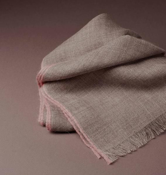 Wool Taupe Scarf