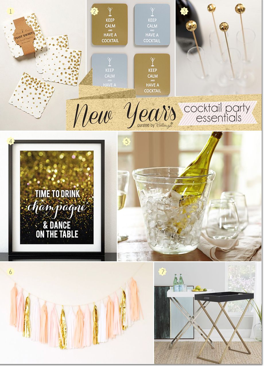 New Years Cocktail Party Ideas Part - 34: New Yearu0027s Cocktail Party Essentials In Glittery Gold! See Party Finds At:  Http: