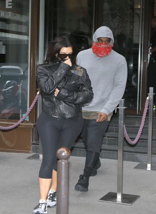 check out 58f86 6c9f4  KanyeWest wearing  adidas ZX Flux Blackout   Kim wearing  Nike Flyknit  Racer