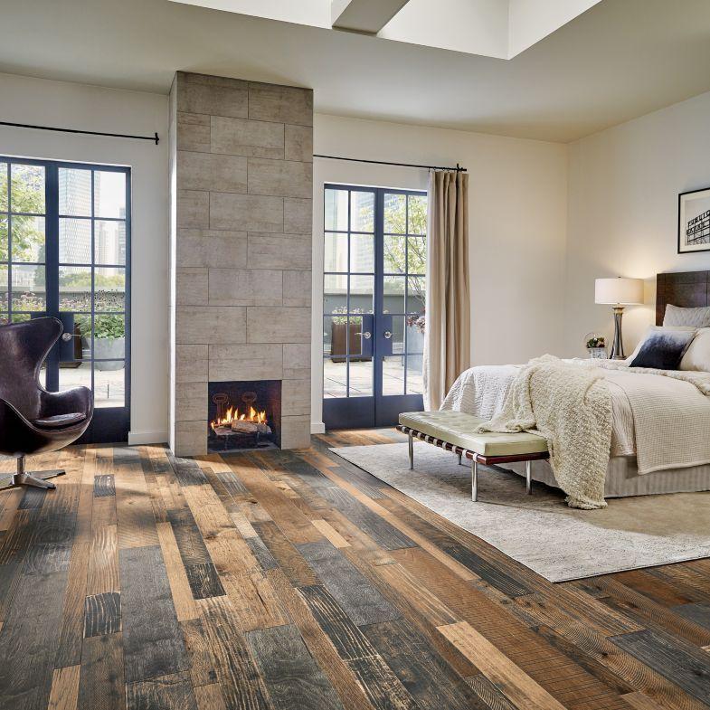 room scene for mixed species engineered hardwood industrial tones rh pinterest com
