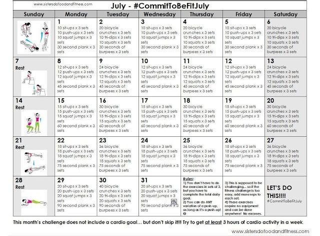 July health challenge
