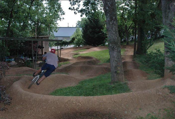 Back Yard Pump Track:   Bike pump track, Mtb trails