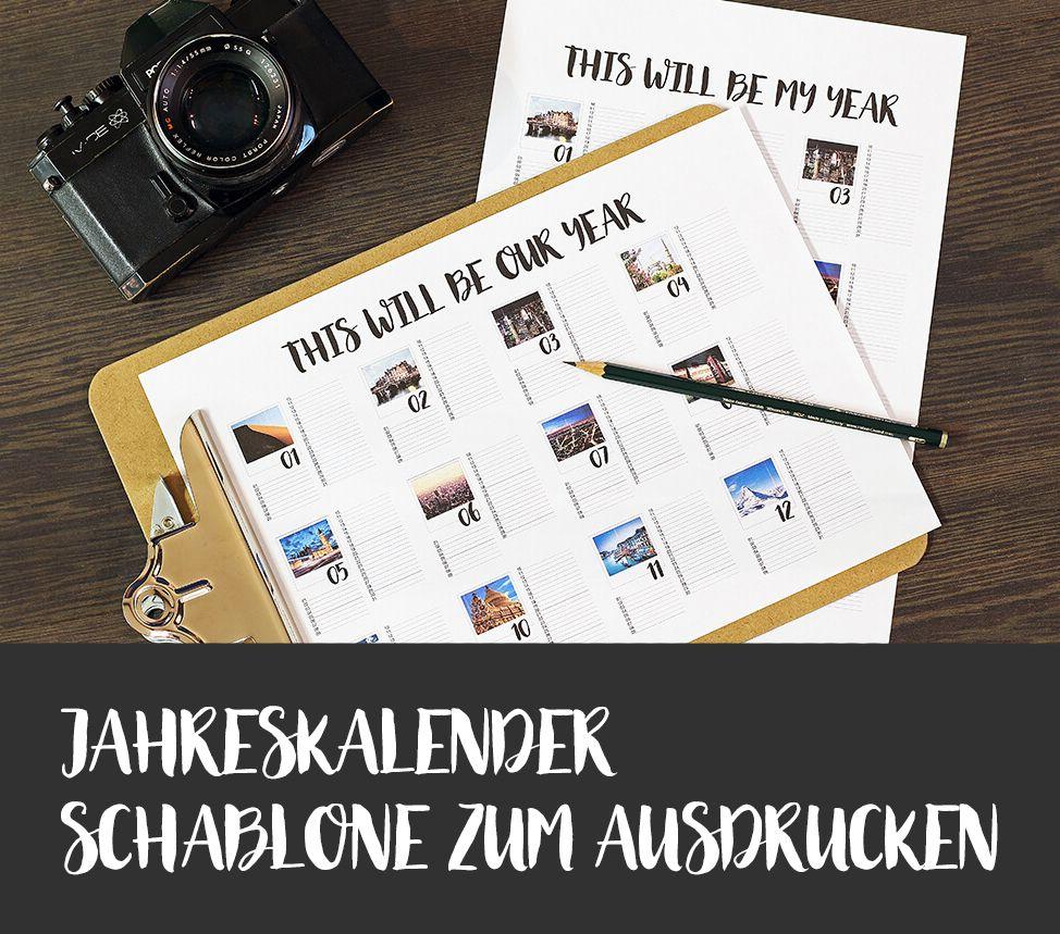 Dein Jahreskalender mit eigenen Fotos als free printable Design ...