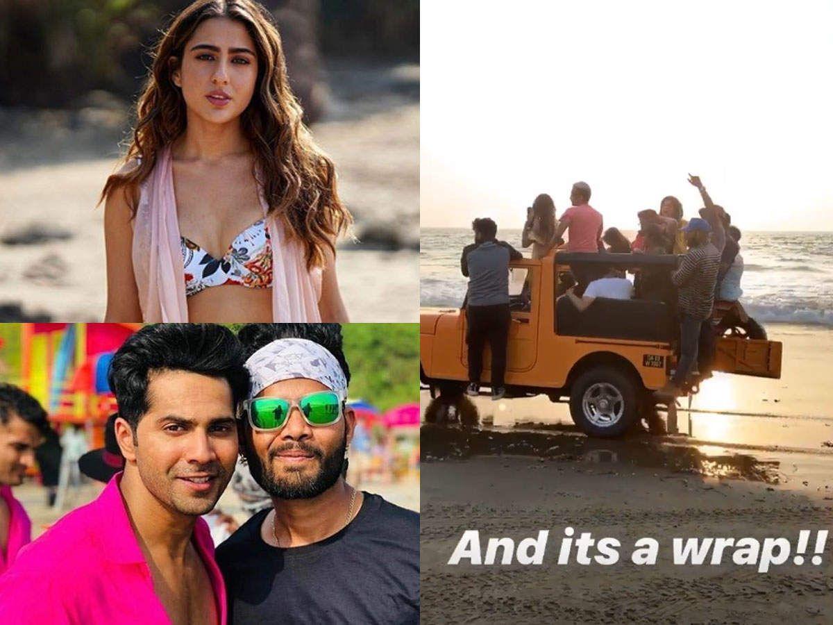 Watch SaraVarun wrap up Cooli No 1 in Goa