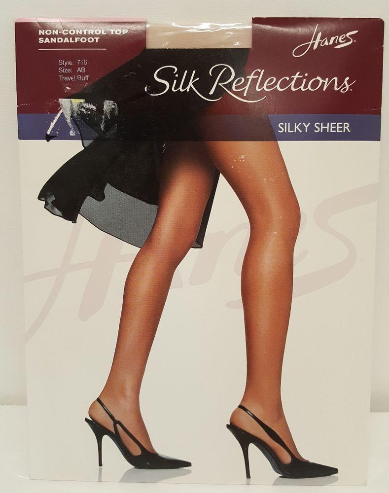 a73f137405e Hanes Reflection Silky Sheer Travel Buff AB Non Control Top Sandalfoot  Pantyhose  Hanes  Pantyhose