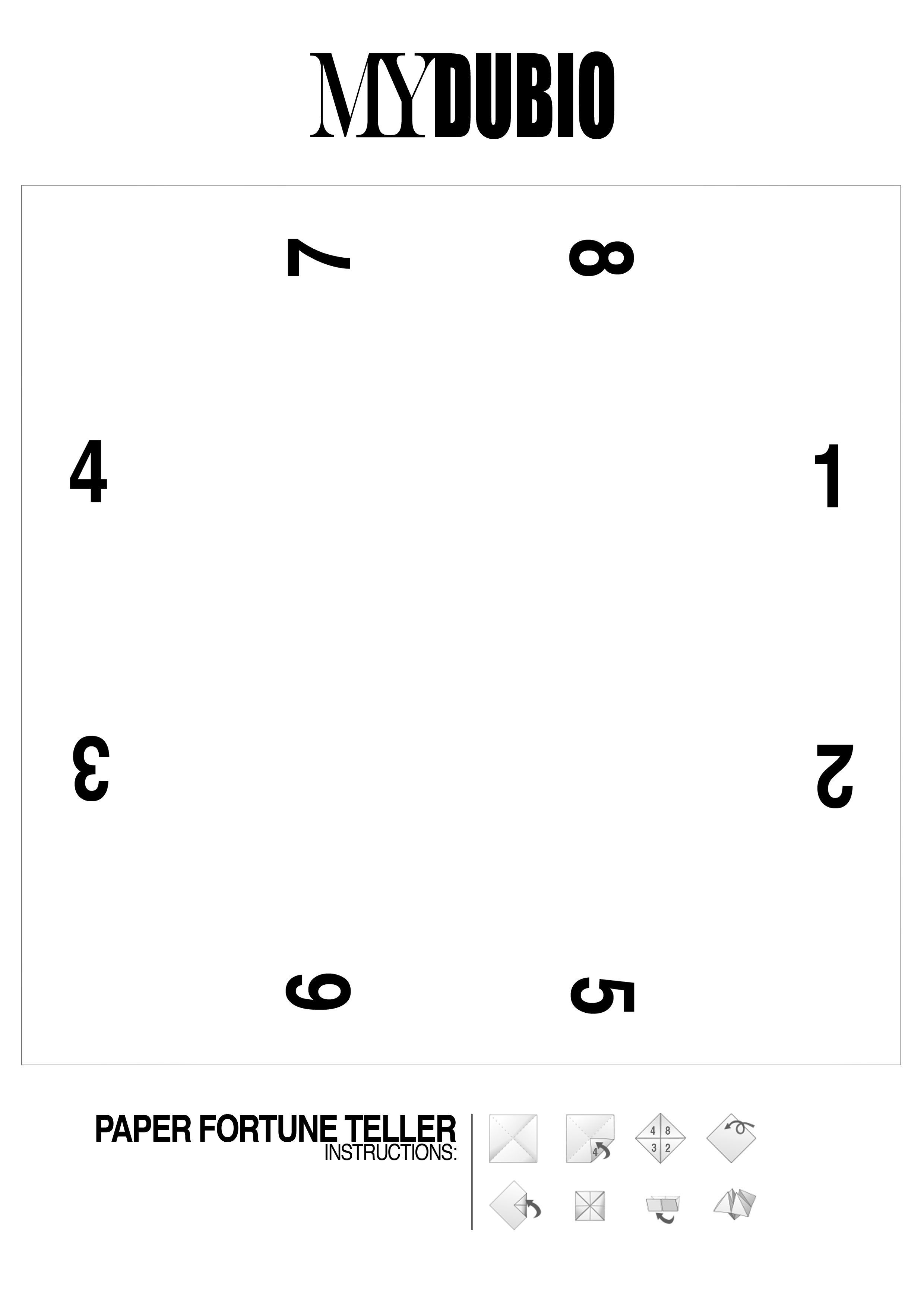 Minimal Paper Fortune Teller Mydubio 2 480 3 508 Pixels