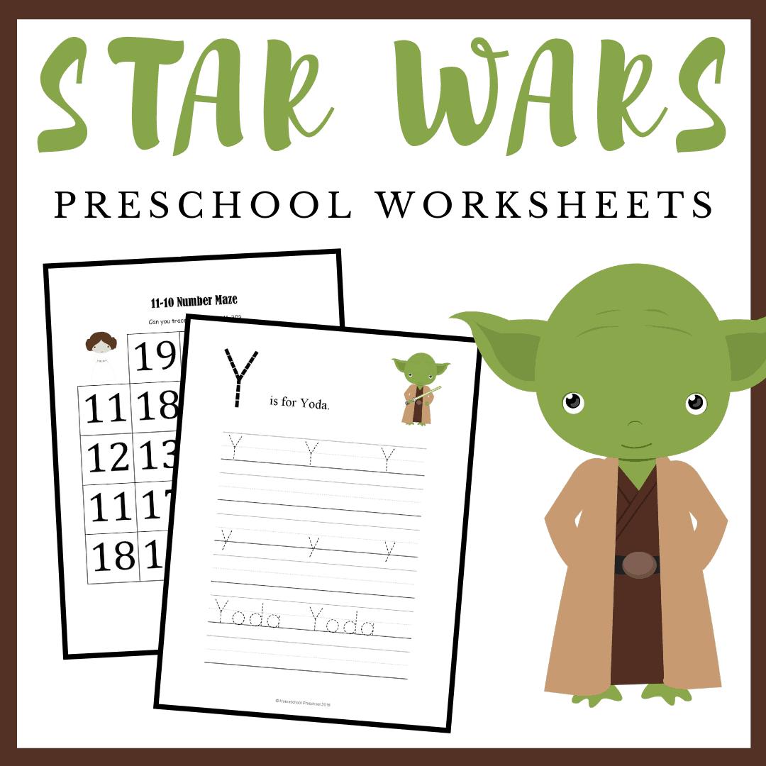 Free Printable Star Wars Preschool Learning Pack In