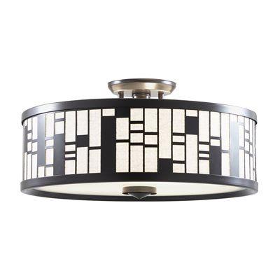 DVI Lighting DVP10812 Lisbon Semi Flush Mount Ceiling Light