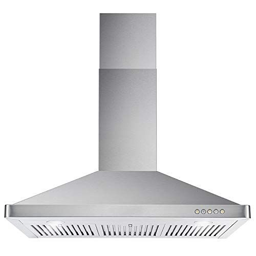 Cosmo 63190 36 In Wall Mount Range Hood With Ductless Convertible Duct Kitchen Chimney Style Over Stove Vent 3 S In 2020 Wall Mount Range Hood Steel Wall Range Hood