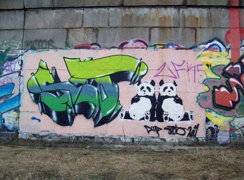 Граффити Панды