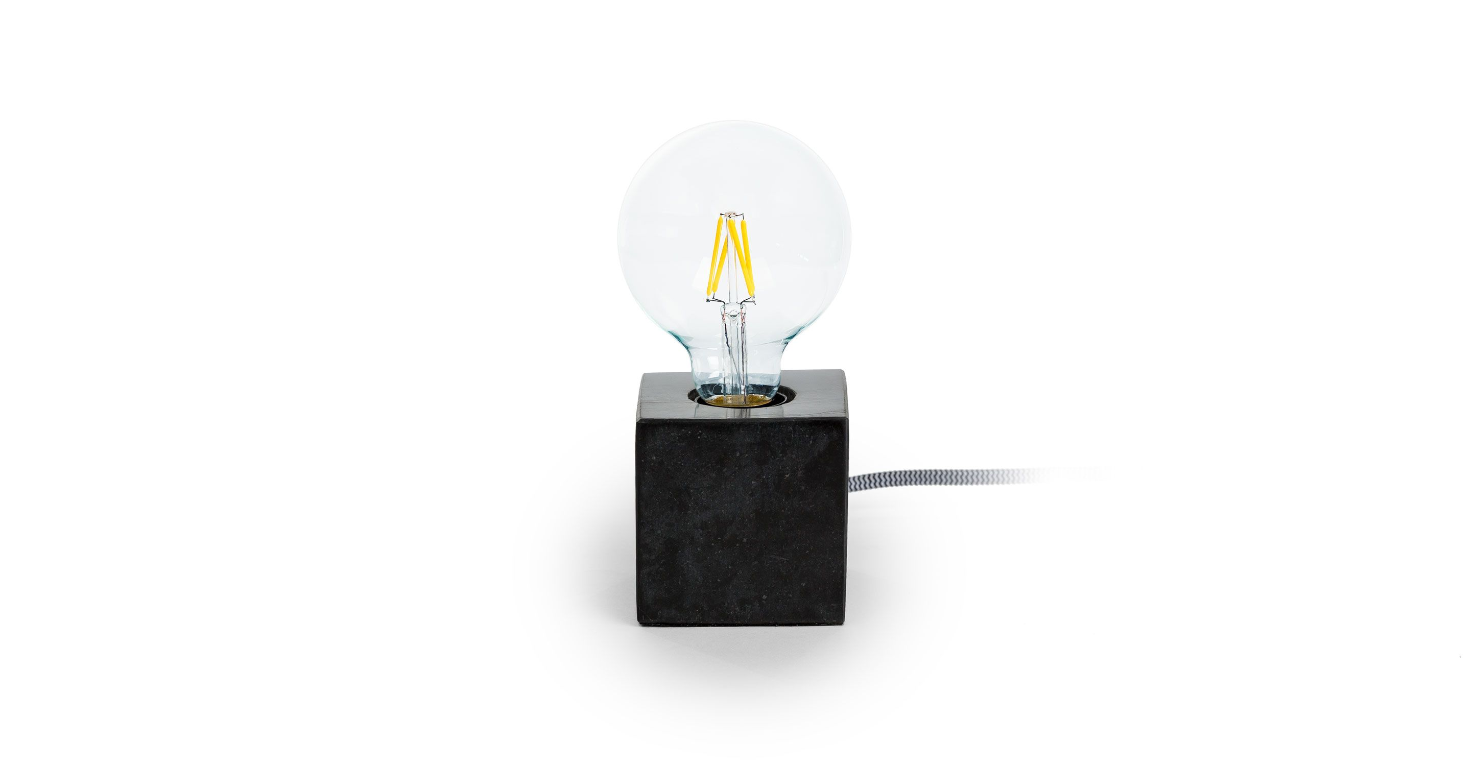 Black Table Lamp With Marble Base Article Flashcube