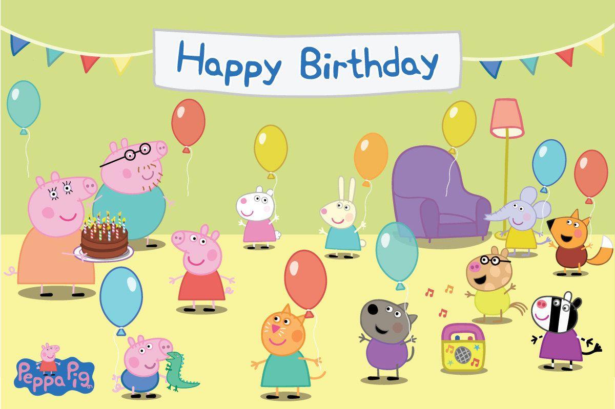 Днем ракетных, с днем рождения открытки свинка пеппа