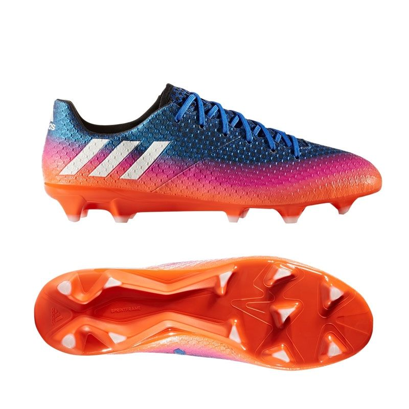 Adidas Messi 16.1 FG Soccer Cleats (Blue/White/Solar Orange ...
