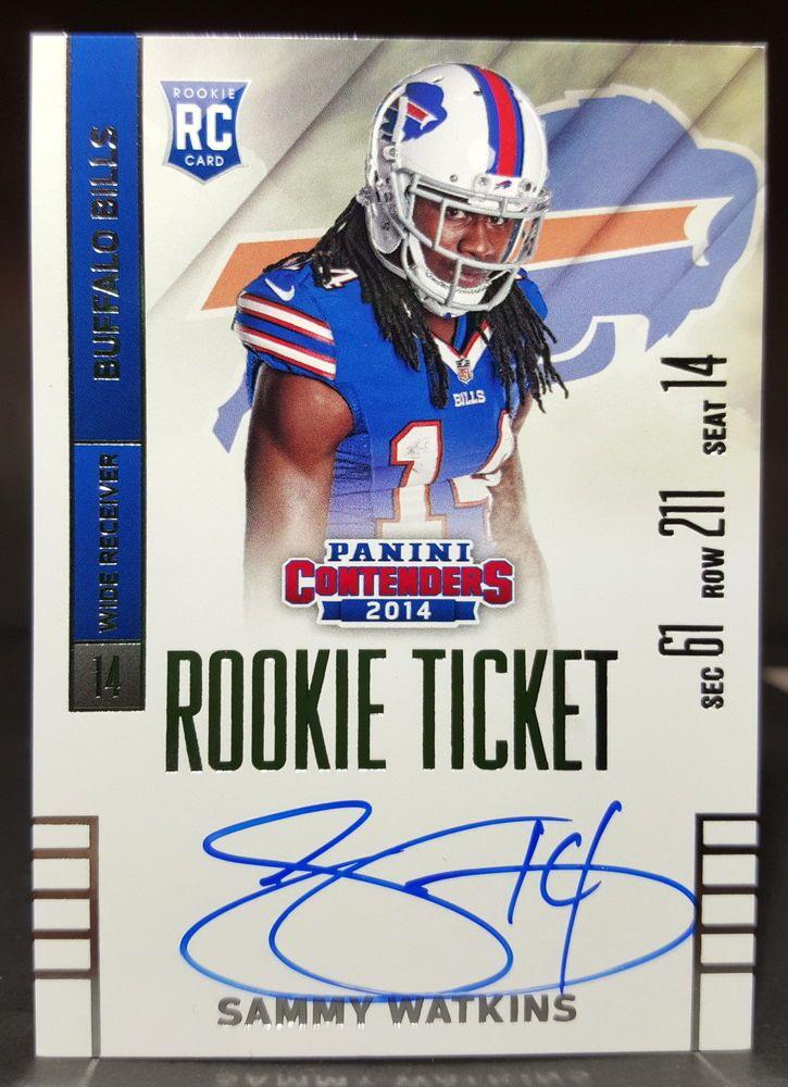 2014 panini contenders sammy watkins rookie ticket on card