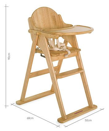 Mothercare Valencia Wooden Highchair Natural